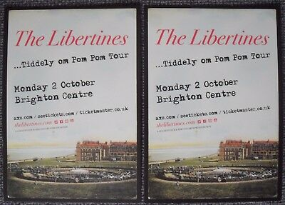 THE LIBERTINES - 2 x A5 Card Flyers - ...Tiddely om Pom Pom Tour - Pete Doherty