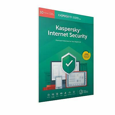 Kaspersky Internet Security 2019 10 Users Multi Device inc Antivirus FFP Retail
