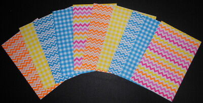 "CHEVRONS & CHECKS Scrapbooking/Cardmaking Papers x 10~ 15cm x 10cm~(6"" X 4"")"
