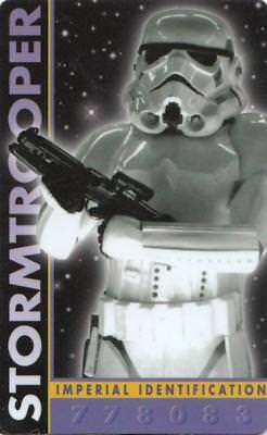 1996 Antioch Publishing Star Wars Wallet Card 778083 Stormtrooper Exc. cond.