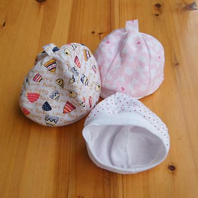 NEW Girls/boy Baby Hats Cute Cotton Stretchy Beanie Lace Up Newborn Infant WE