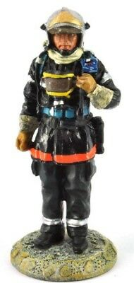 Firefighter Figurine Fireman France 2002 Metal Del Prado 1/32 2.75""
