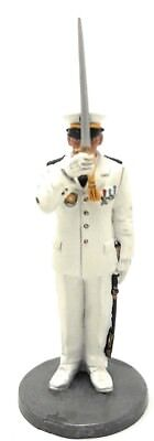 Firefighter Figurine Navy Fireman Marseilles France 1982 Metal 1/32 2.75""