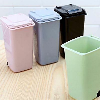 Mini Plastic Desktop Garbage Basket Table Waste Bin Home Office Trash Can Fashio