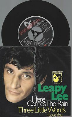 """7""""    Leapy Lee – Here Comes The Rain"""