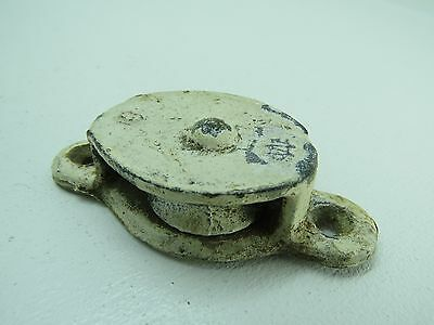 (#140) 1+1/2 Inch  Wilcox Crittenden Galvanized Steel Deck Pulley Block Tackle