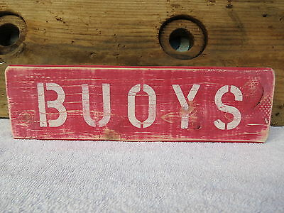 12 Inch Wood Hand Painted Buoys Sign Nautical Seafood Online Shop #s663