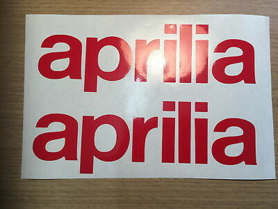 X2 Aprilia text graphics Vinyl  Motorcycle decals stickers Any Colour.