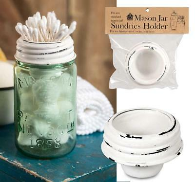 Farmhouse WHITE Mason Jar Tapered Cup Lid