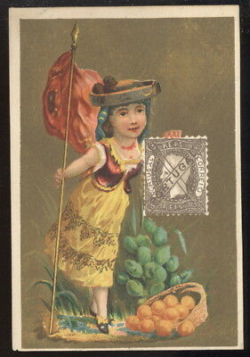 Facsimile Stamps Trade Card, Portugal Stamp
