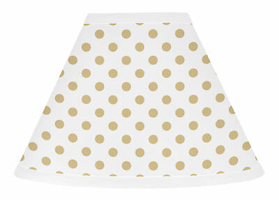 Sweet Jojo Gold and White Polka Dot Lamp Shade for Watercolor Floral Collection