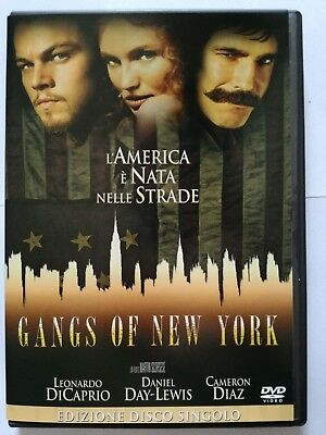 Gangs of New York (Drammatico 2002) DVD film con Leonardo Di Caprio Cameron Diaz