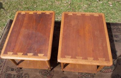 2 Vintage Wood Lane Acclaim Dovetailed Dove Tail End Tables