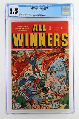 All Winners Comics #18 - CGC 5.5 FN- Timely 1946 - Sub-Mariner & Captain America