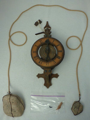 West German Cuckoo Clock Mfg. Wooden Stone Weight Clock, Black Forest
