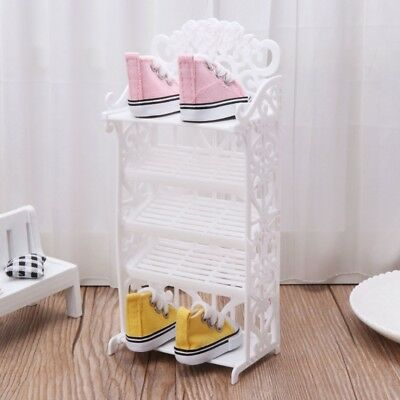 Doll Shoe Rack House Accessories Children Toys Storage Furniture for Barbie