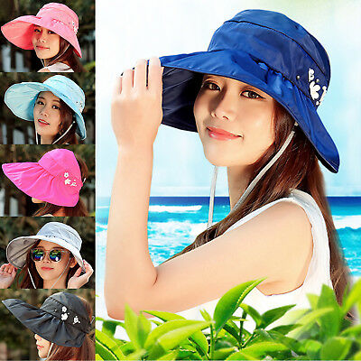 Lady Summer Sun Hats Women Foldable Wide Brim With Ribbons Bow Beach Hat Caps