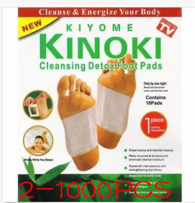 100Stk Kinoki Fusspflaster Toxine Patches Detox Pflaster Pad Entgiftung Vital