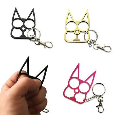 Personality Classic Cat-Self-Defense Tools Key Chain Metal Keyrings Gift Women's
