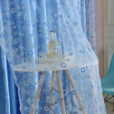 Circle Tulle Voile Door Window Curtain Drape Panel Sheer Scarf Valances Divider