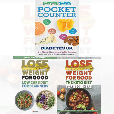 Chris Cheyette Pocket Calories Carbs & Cals Recipes  Counter 3 Books Collection