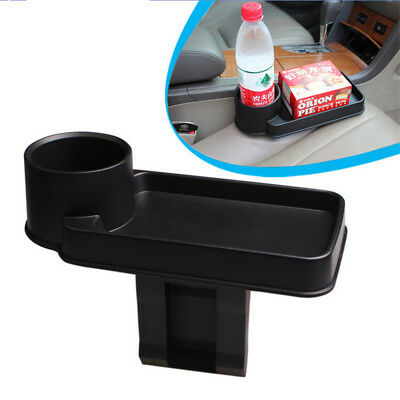 Car Storage Durable Multi-functional Portable Cup Holder Tray - BLACK