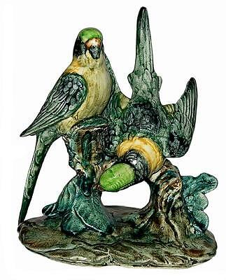 Stangl DOUBLE PARAKEETS No. 3582-7 Inch Hand Painted Figurine / Figure