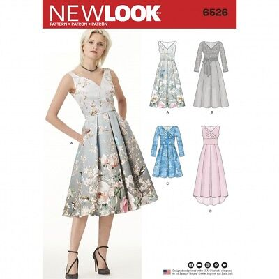 FREE UK P&P - New Look Ladies Sewing Pattern 6526 Dress With Bodice ...
