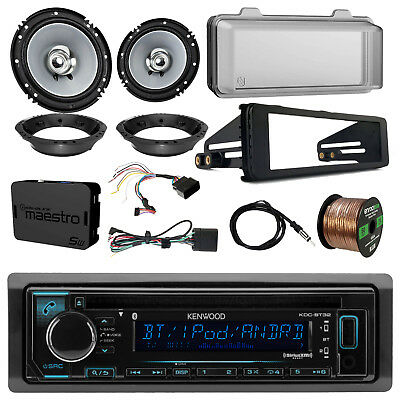 "Kenwood KDCBT32 CD Radio w/ Accessories, 2x 6.5"" Speaker, Adapter, Antenna, Wire"