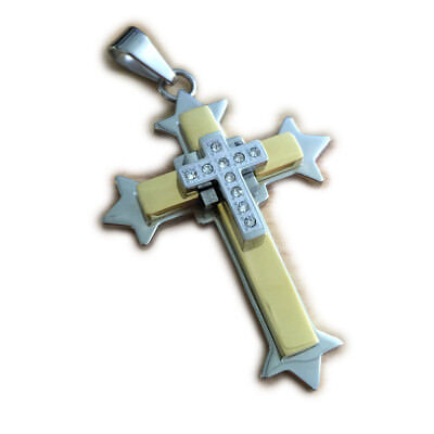 316L Stainless Steel Charms Cross Pendant 4K001A Just Pendant