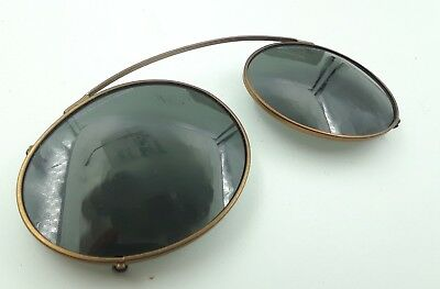 Vintage Safilo Team 8899 Copper Metal Oval Clips Clip on Sunglasses Frames Italy