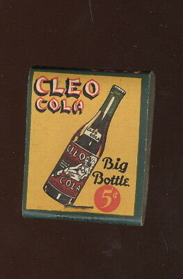 1940S Unused Matchbook Advertising Cleo Cola, Cleopatra