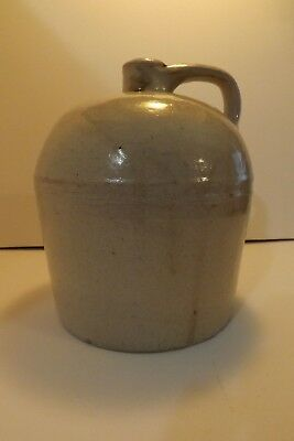 "Antique Salt Glazed Stoneware 1 Gal Whiskey Jug 9"" Primitive Beehive Moonshine"