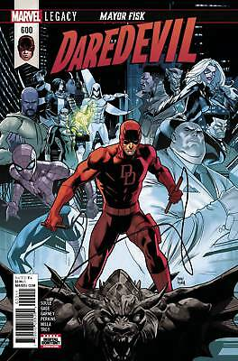 MARVEL Comics DAREDEVIL #600 Regular Cover (2018) Mayor Fisk!