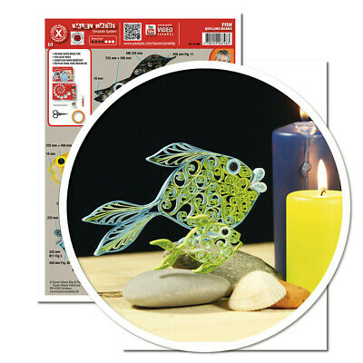 Quilling Template Fisch (ohne Pappe)