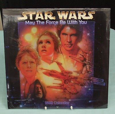 Vintage Star Wars 1999 Calendar  May The Force Be With You.  sealed