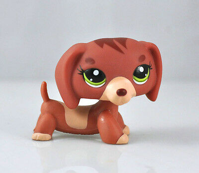 Pet Dachshund Dog Child Girl Boy Figure Littlest Toy Loose Cute LPS833