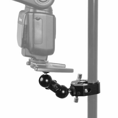 """Crab Clamp & 1/4"""" Dual Ball Head Mount For DSLR Camera LCD Monitor Flash Light"""