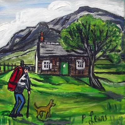 Original Northern Art Oil Painting Phil Lewis : Glencoe Bothy Highlands Scotland