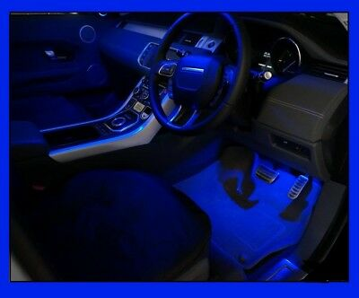 Blue LED Foot Well Light bulb upgrade Range Rover Evoque pure prestige dynamic