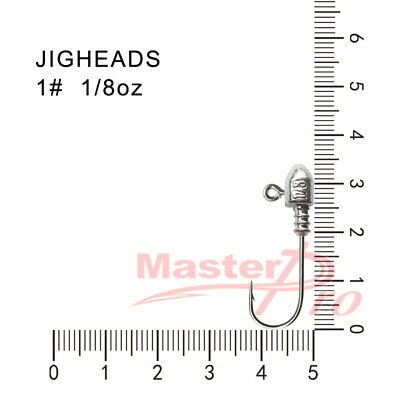 20  Size 1#,  1/8OZ  Jig Heads  High Chemically Sharpened Hooks Fishing Tackle