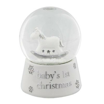 Widdop Baby's First 1st Christmas Waterball Snow Globe Decoration Gift NEW