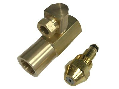 Delavan 30609-8 0.75 GPH Waste Oil Nozzle With EN4068 Brass Adapter