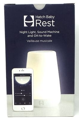 Hatch Baby Rest Night Light Machine Time-to-Rise OK-to-Wake Smartphone White