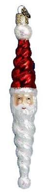 Swirly Santa Claus Icicle Old World Christmas Glass Ornament Nwt 40053