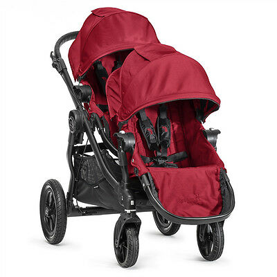 Baby Jogger City Select Double Stroller in Red with Black Frame Brand New!!!