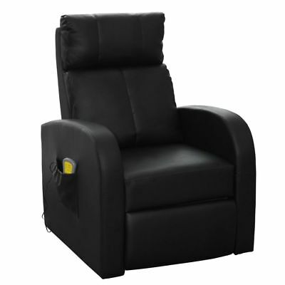vidaxl massagesessel relaxsessel fernsehsessel massage heizung tv sessel schwarz eur 145 99. Black Bedroom Furniture Sets. Home Design Ideas