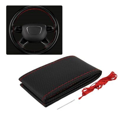 New Auto Steering Wheel Cover With Needles And Thread Leather Car Covers Suite