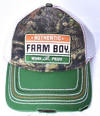 3d869326 FARM BOY Authentic Work With Pride Mesh Hat/Cap Adjustable Camo F13080690MO  >NEW