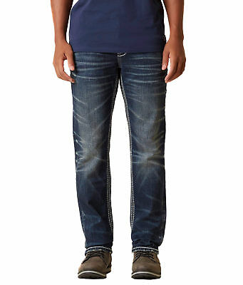 527dc626 Rock Revival Men's Slim Straight Denim Jeans Keaton SJ200 EP2216SJ200R size  31